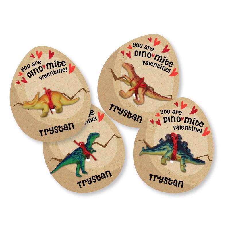 Printable Dinosaur Egg Valentines Cards for small dinosaur Etsy