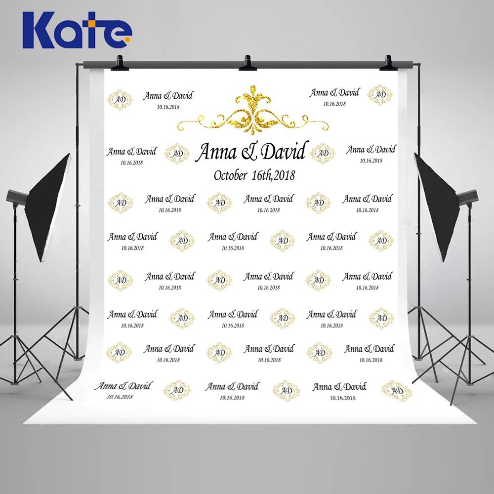 Contoh Desain Backdrop Black Golden Engagement Wedding Banner Photography Backdrops Custom Step And Repeat Photo Backgrounds For Party Studio Props