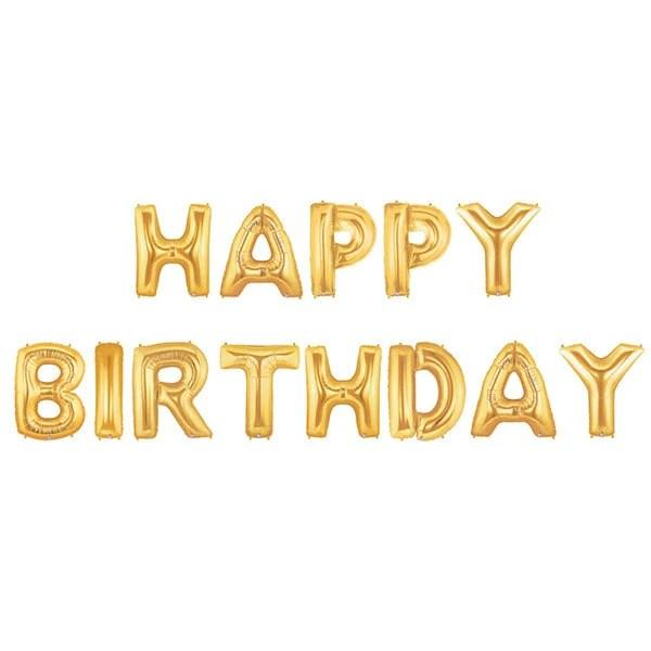 Feliz cumpleaños letra globos Banner feliz cumpleaños Etsy