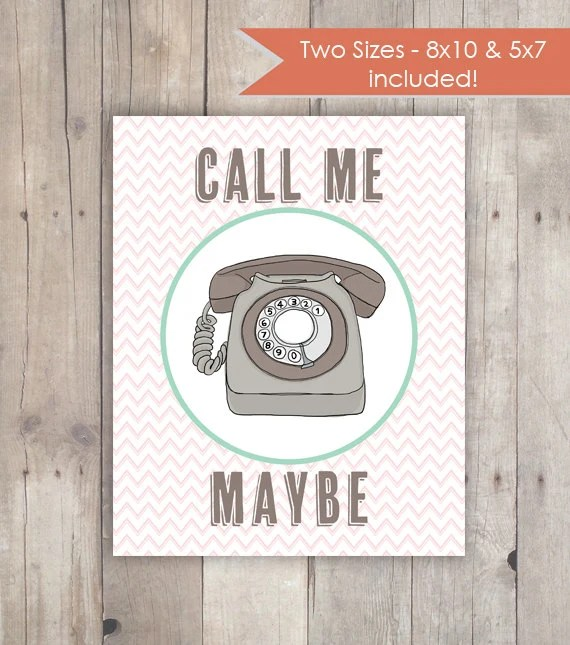 Call Me Maybe Vintage Telephone Printable Taylor Swift Etsy