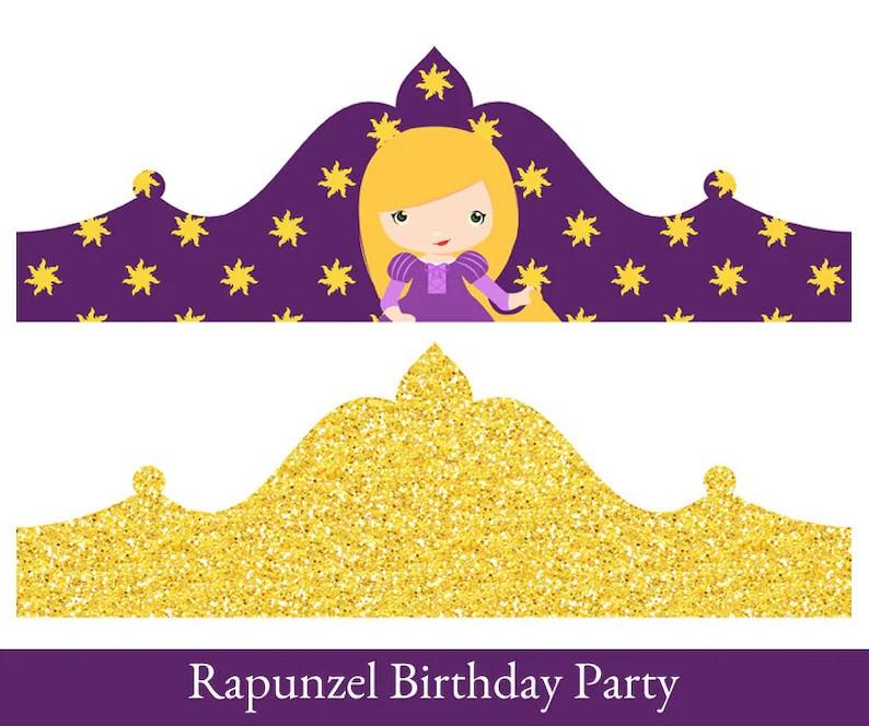 Rapunzel Crown Birthday Crown Crown Printable Princess Etsy