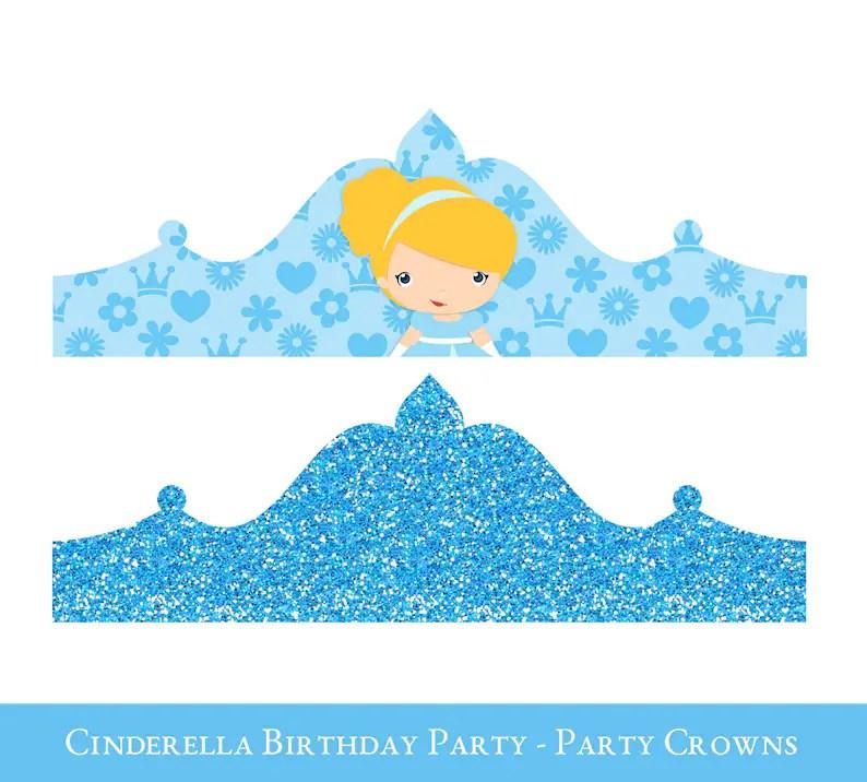 Cinderella Crown Printable Birthday Crown Crown Printable Etsy