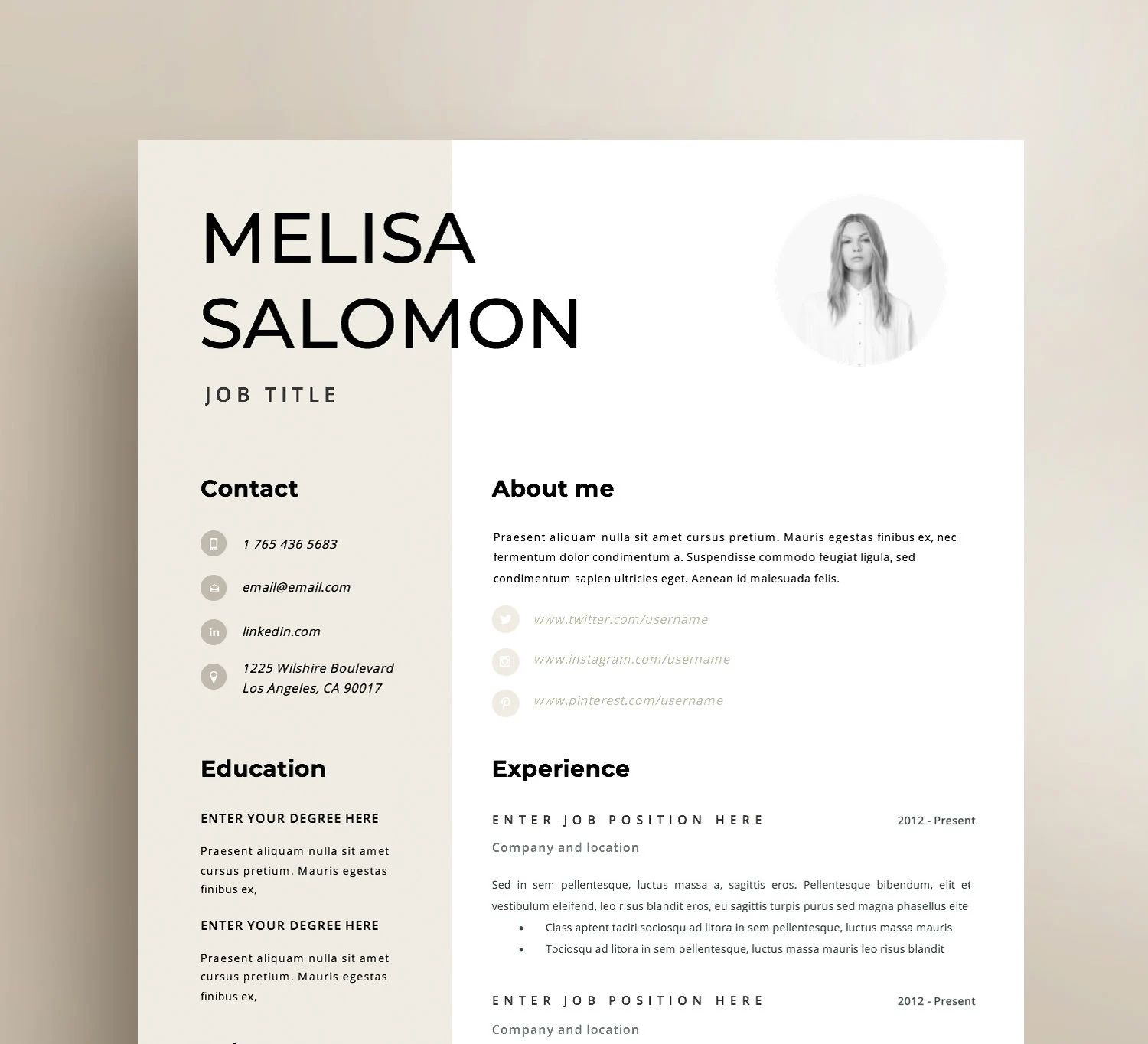 resume templates you don t have to pay for