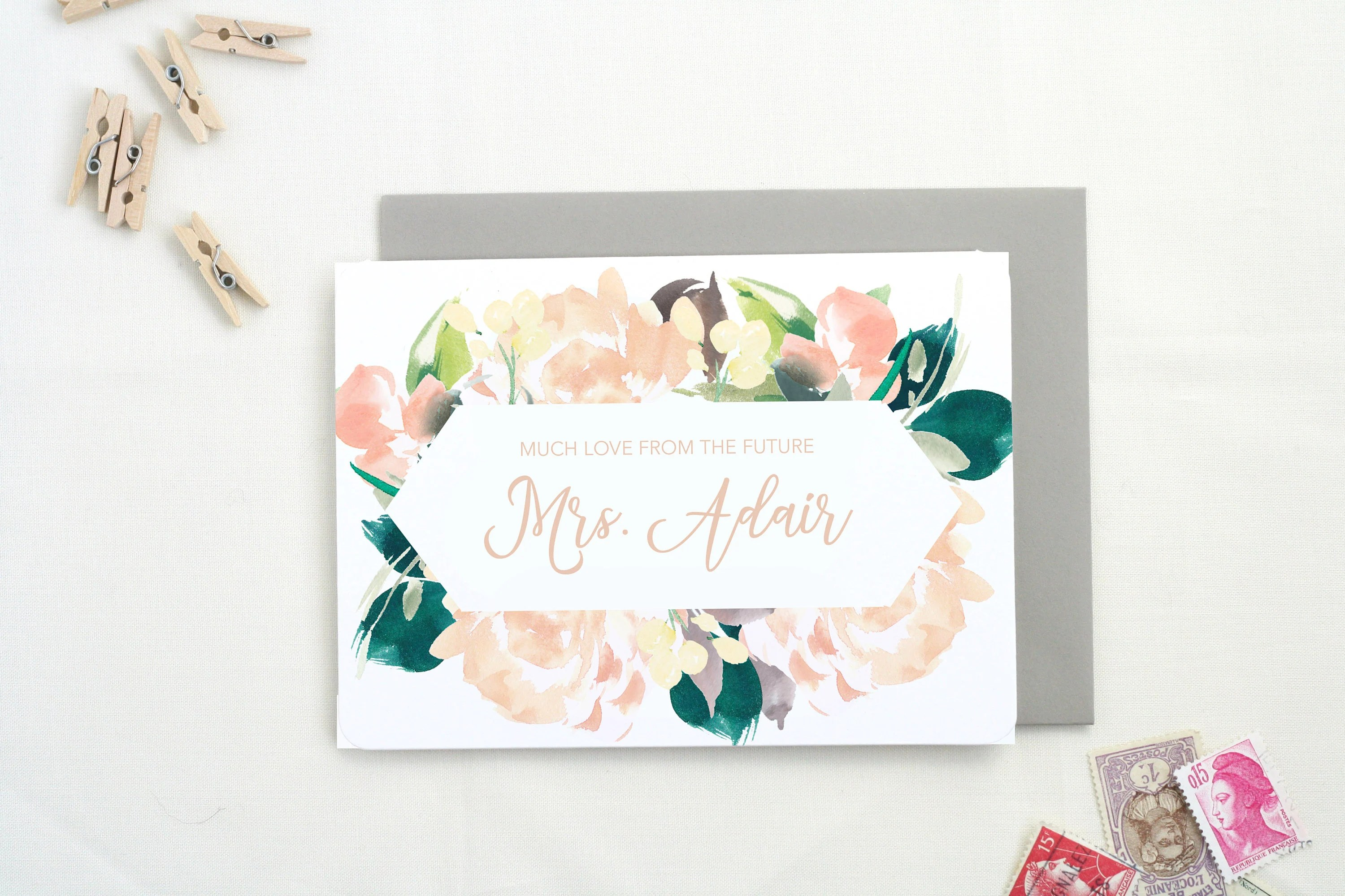 Bridal Shower Thank you Cards Thank You Cards Wedding Thank Etsy