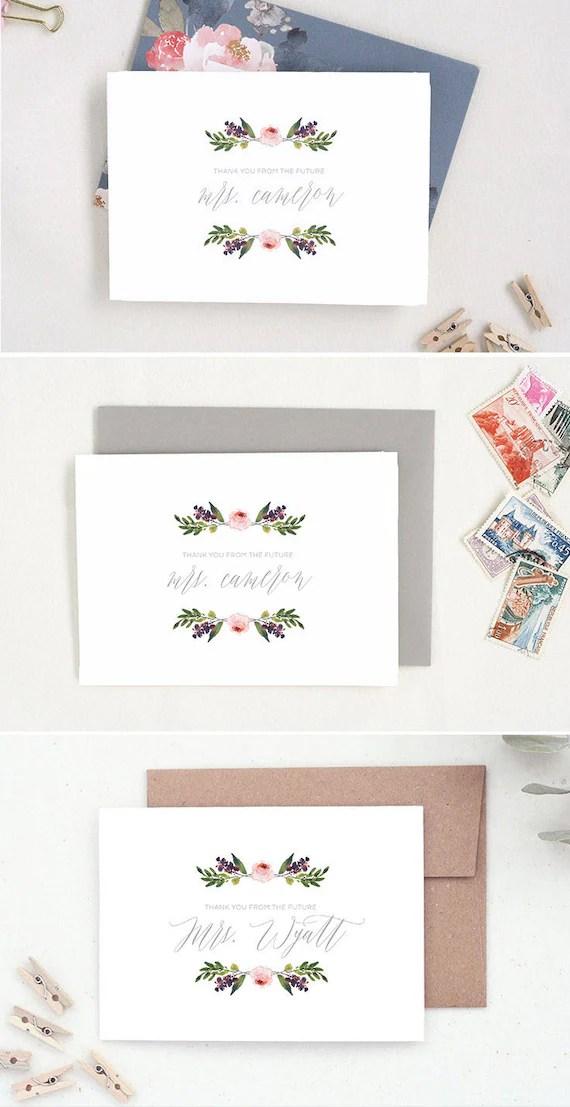 Future Mrs Cards Bridal Shower Thank You Wedding Thank You Etsy
