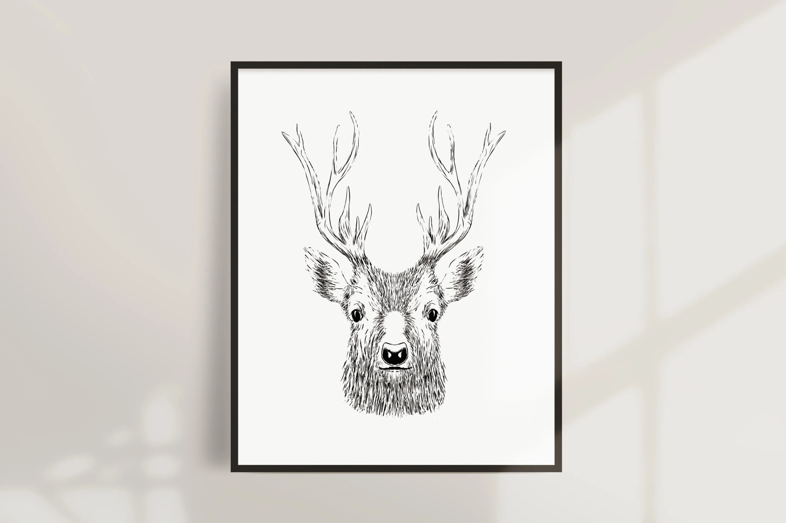 Stag Printable Cute Deer Sketch wwwpicturesboss