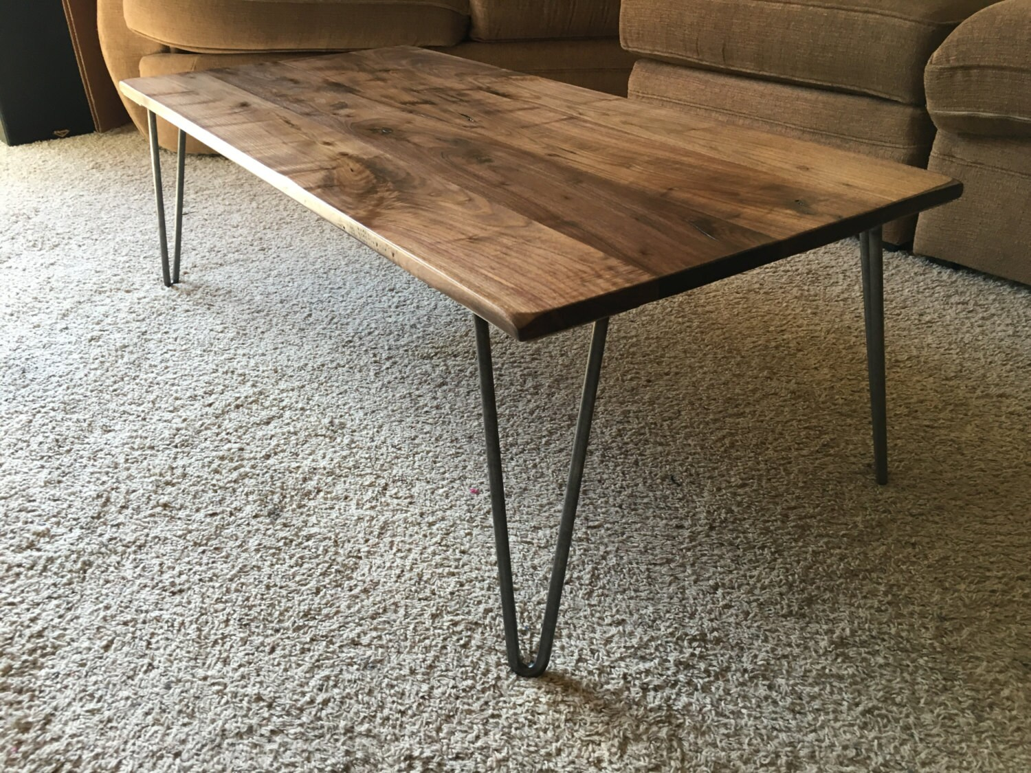 Couchtisch Hairpin Legs Beautiful Black Walnut Coffee Table With Hairpin Legs
