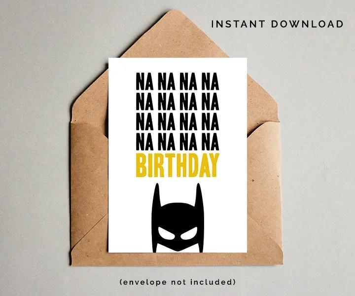 Batman Birthday Card Superhero Birthday Card Boys Birthday Etsy