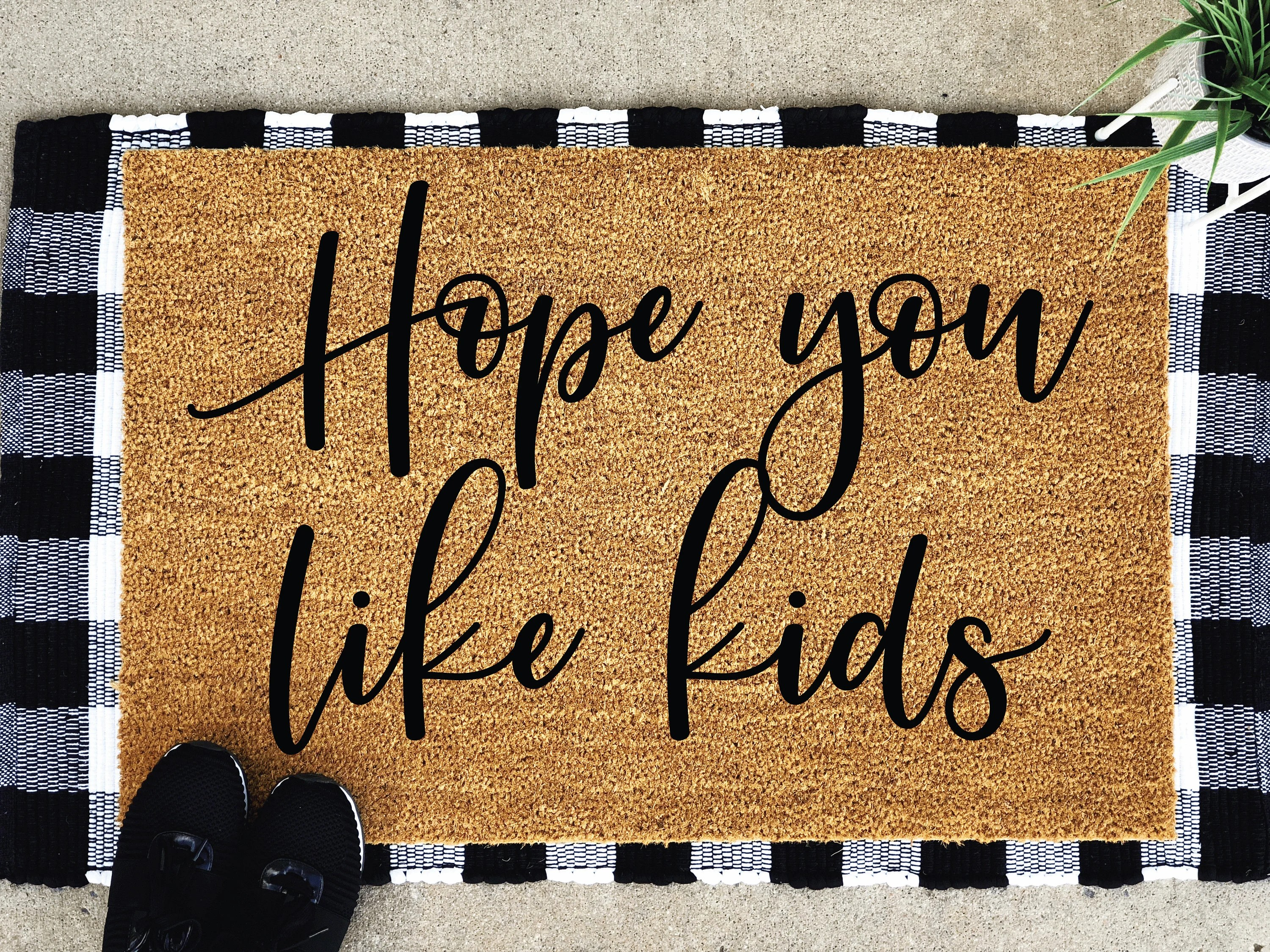 Big W Floor Mat Hope You Like Kids Doormat Large Doormat Custom Door Mat Big Family Gift Custom Doormat Door Mat Custom Welcome Mat Housewarming Gift