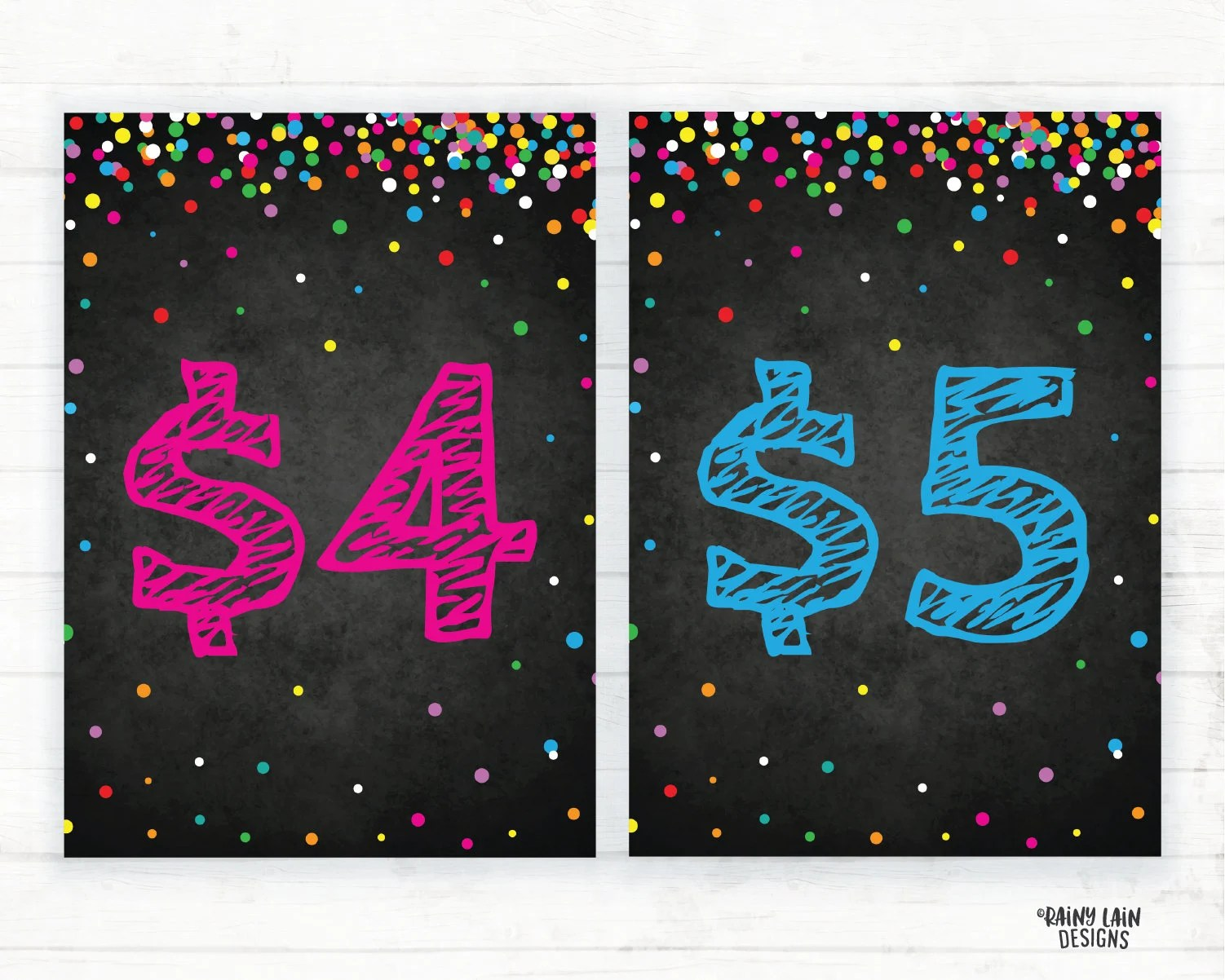 Cookie Prices Signs 4 and 5 Cookie Pricing Signs Cookie Etsy