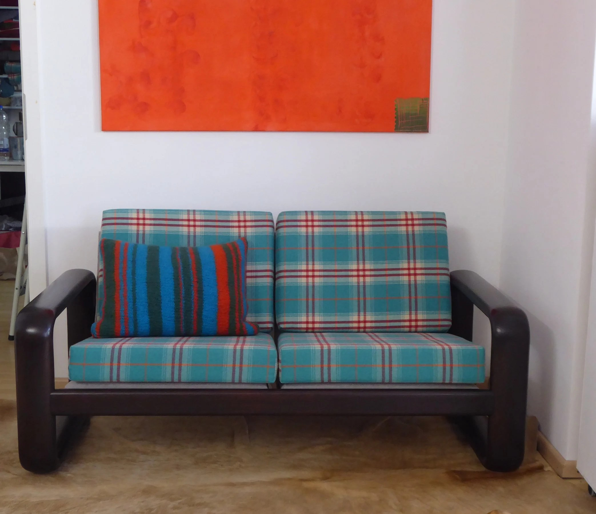 Möbelbezugsstoffe Vintage German Design Sofa Of Rosentahl Completeley Refurbished Vintage Design Sofa Hombre Sofa With Checkered Scottisch Upholstery Fabric