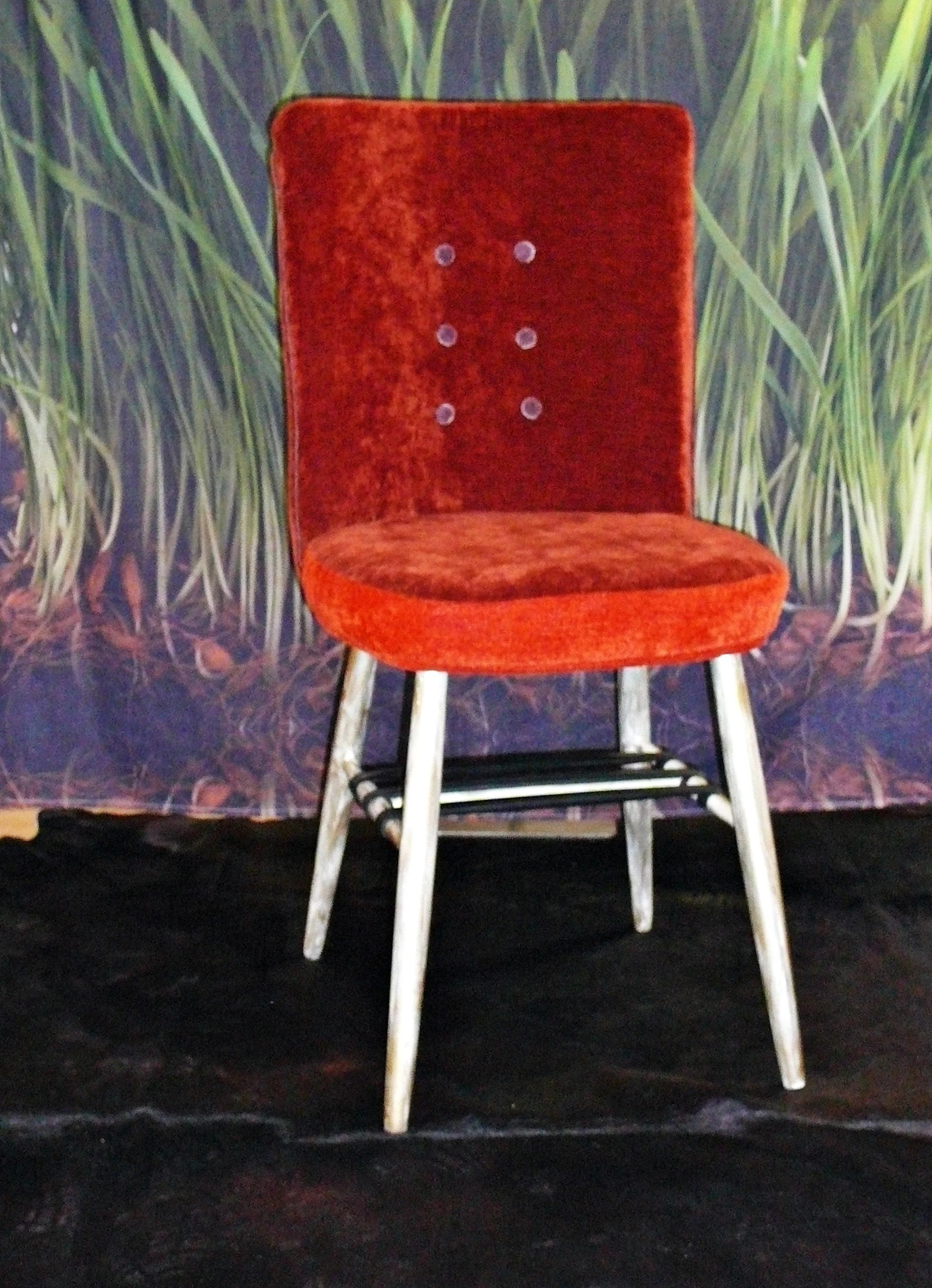 Möbelbezugsstoffe Upcycling Chair Upcycled Dining Chair Orange Dining Chair Chair For Dining Room Orange Upholstery Chair