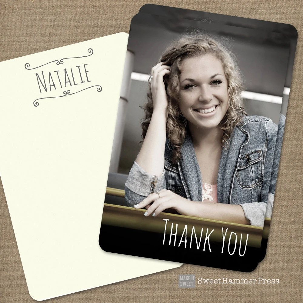 Graduation Thank You Cards Photo Personalized Thank You Cards Etsy