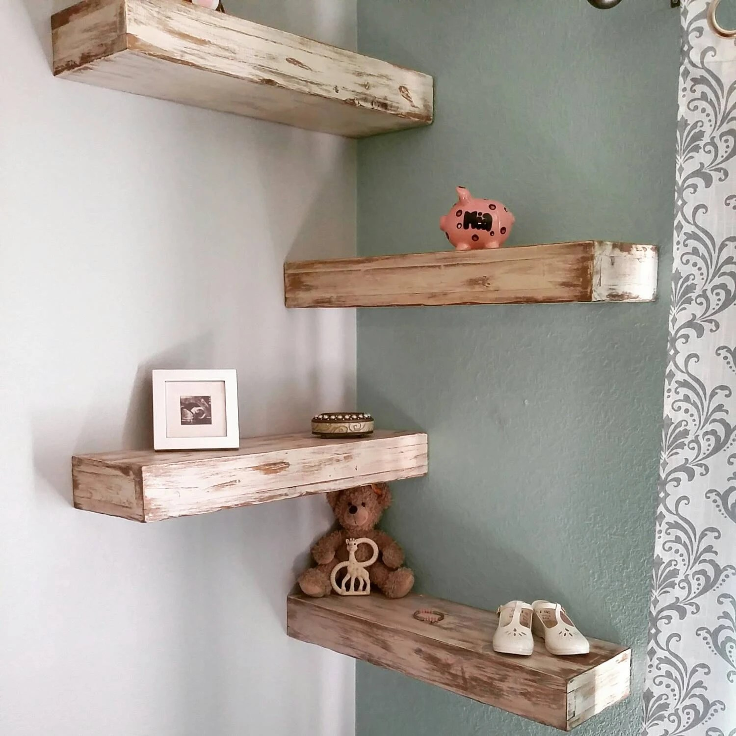 Wall Shelf Design Listing Rustic Reclaimed Wood Floating Shelves Wall Shelf Mantel Farmhouse White Mixed