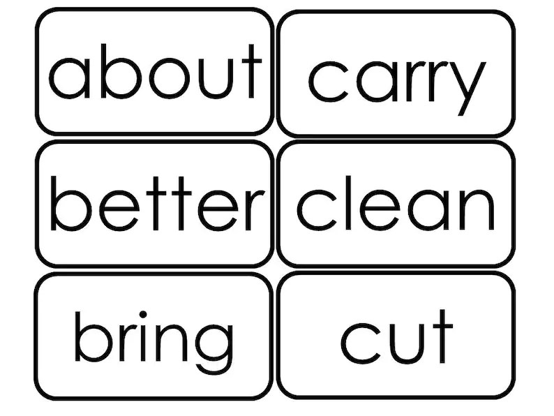41 Printable Dolch 3rd Grade Sight Word Flashcards Etsy