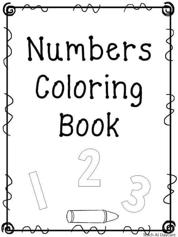 21 Printable Number Coloring Book Worksheets Numbers 1-20 Etsy