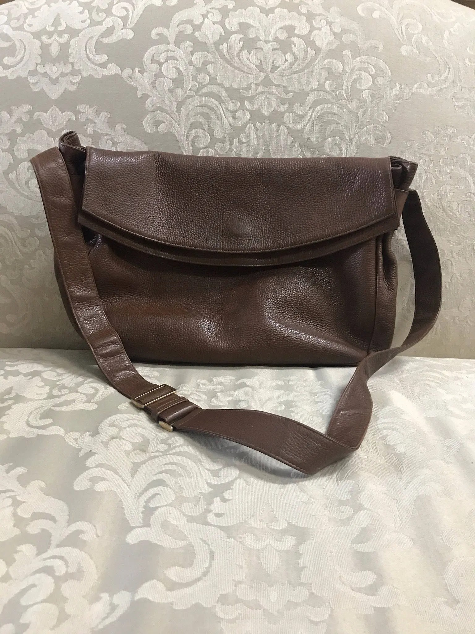Etsy Vintage Gucci Vintage Gucci Handbag Gucci Crossbody Gucci Vintage Gucci Leather Crossbody Gucci Shoulder Bag Brown Leather Gucci Bag Messenger Bag