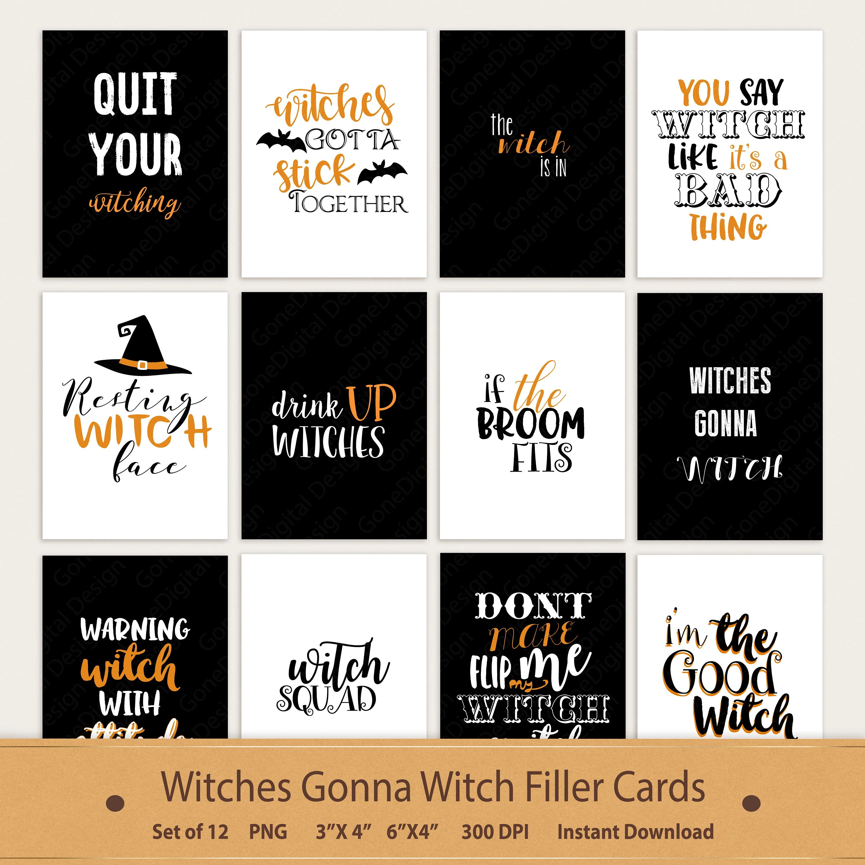 Halloween Cards Pocket Card Witch Card Witch Quotes Witch Journal