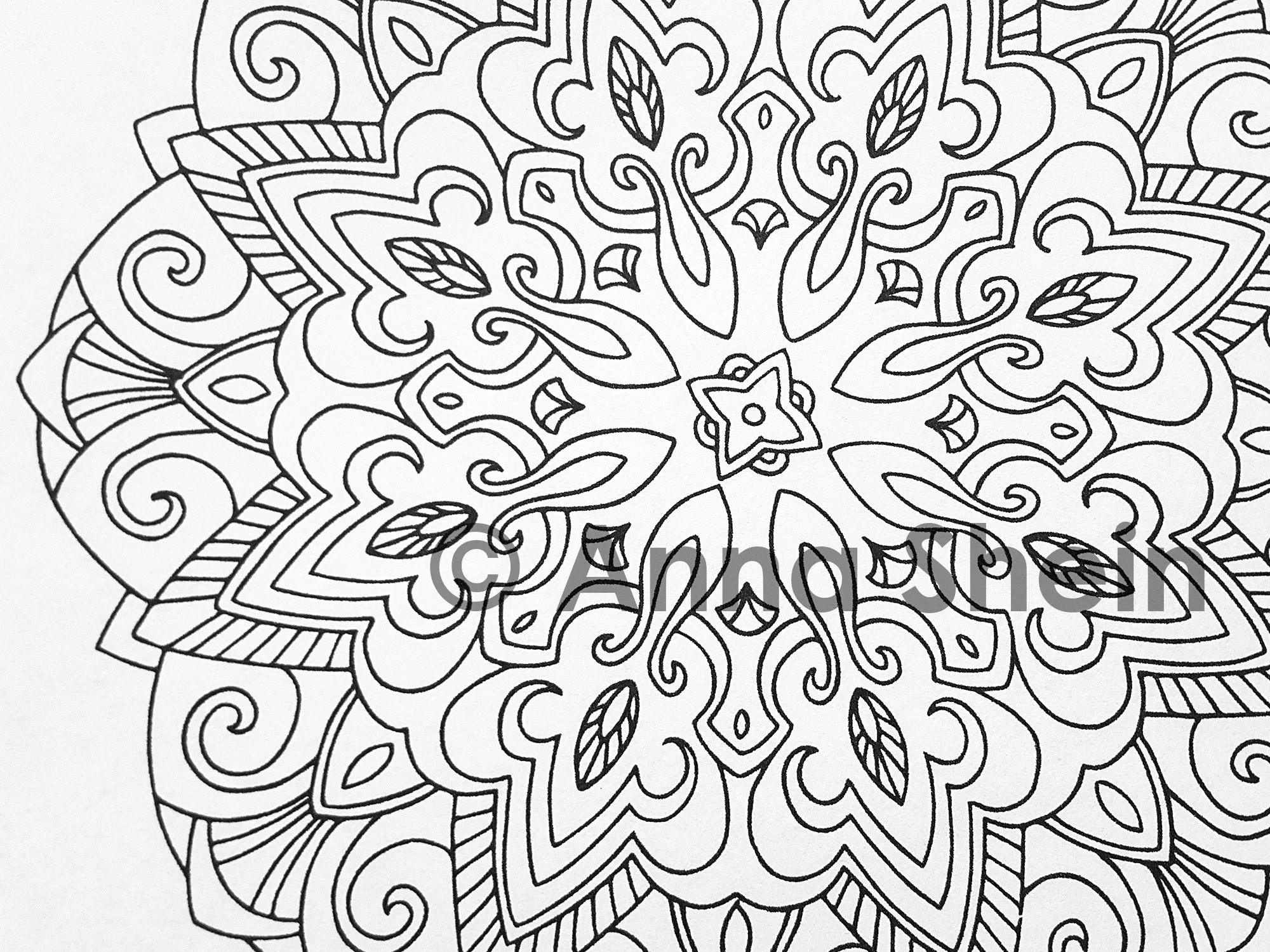 Mandala Coloring Pages Printable Coloring Pages PDF Coloring Etsy