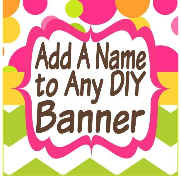 Add a Name to Any DIY Printable Happy Birthday Banner Etsy