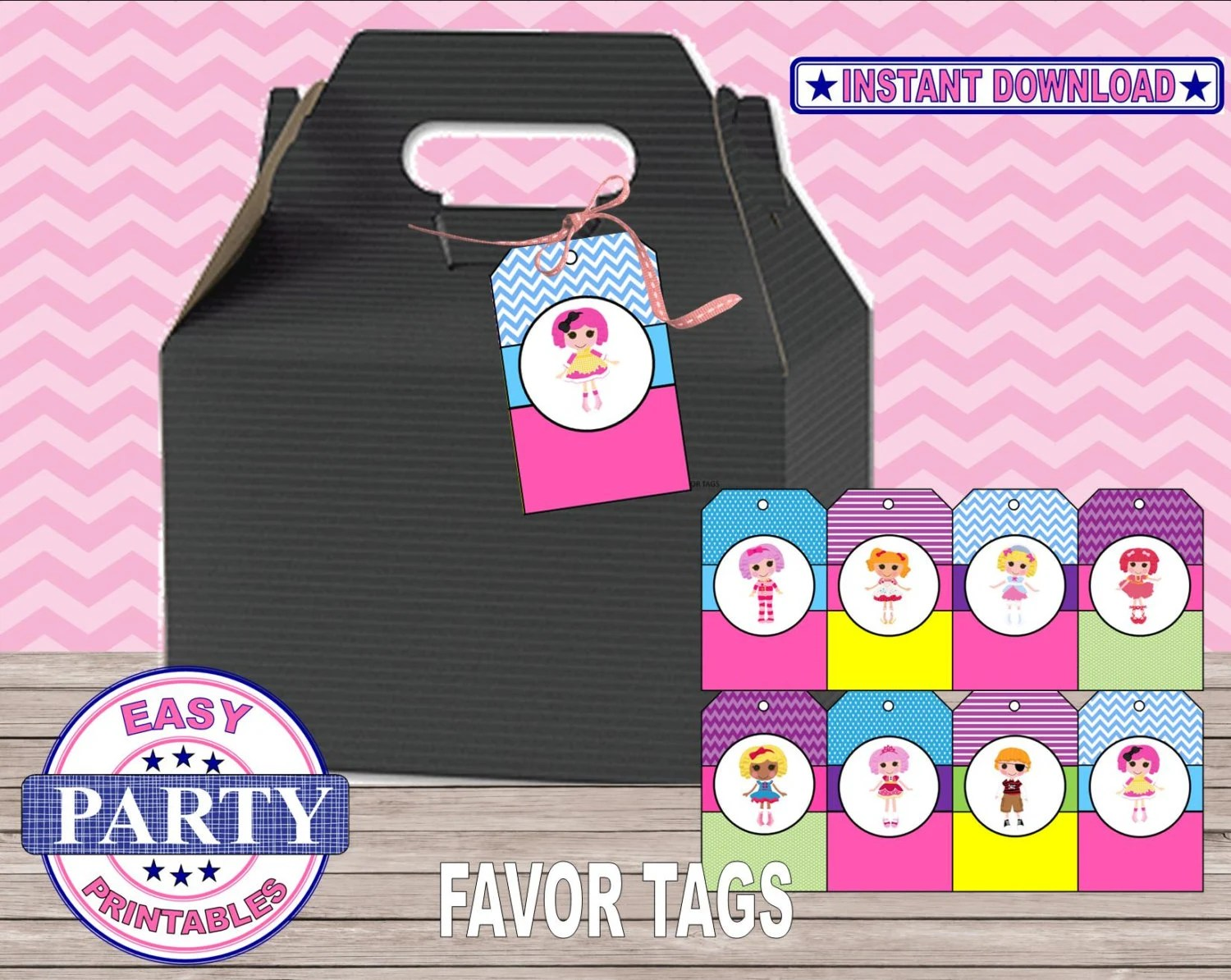 SALE Instant Download Lalaloopsy favor tags gift tags Etsy