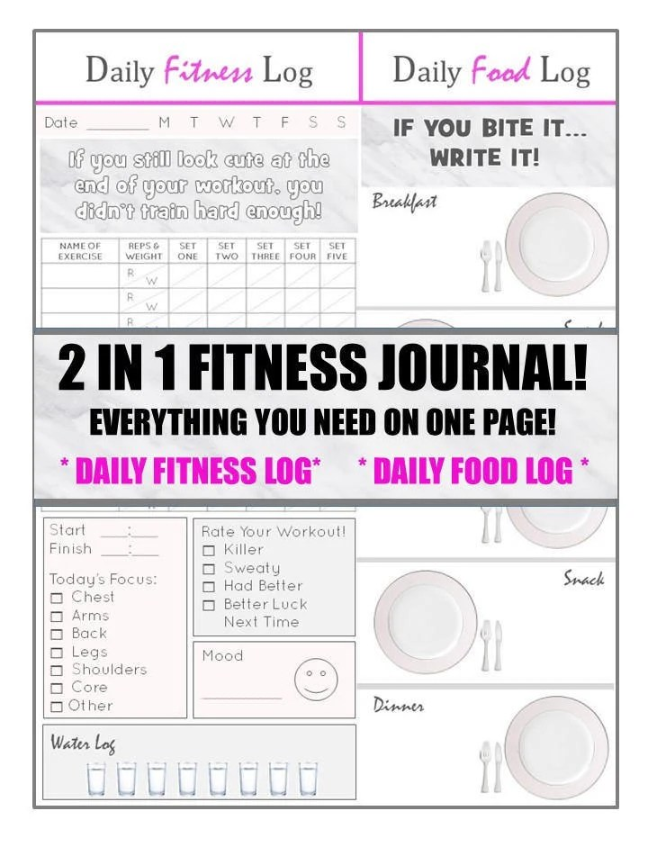2 in 1 Health and Fitness Journal EVERYTHING you need on ONE Etsy