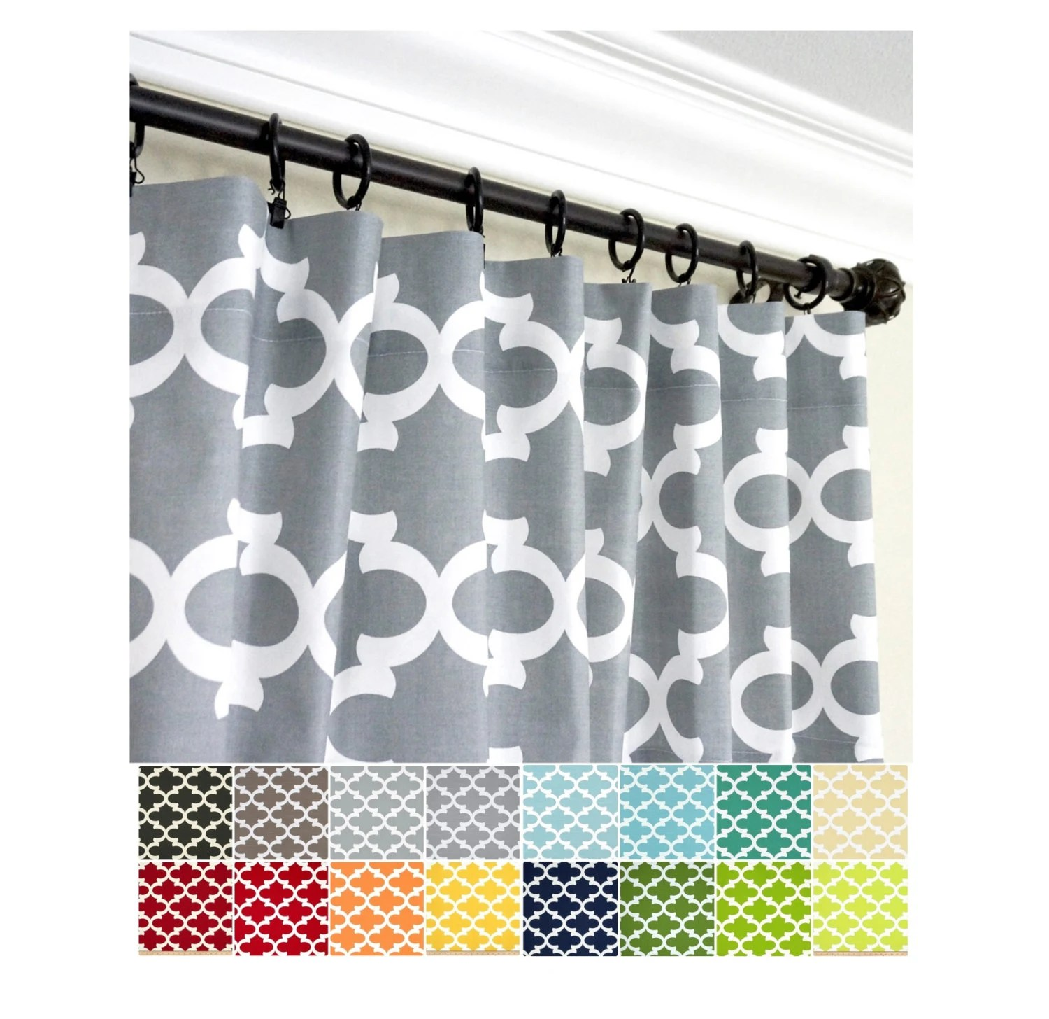 Black And Blue Curtains Pair Of Morrocan Window Curtains Grey Green Black Blue Yellow Orange Red Curtain Panels Kitchen Curtainsquartrefoil Curtains
