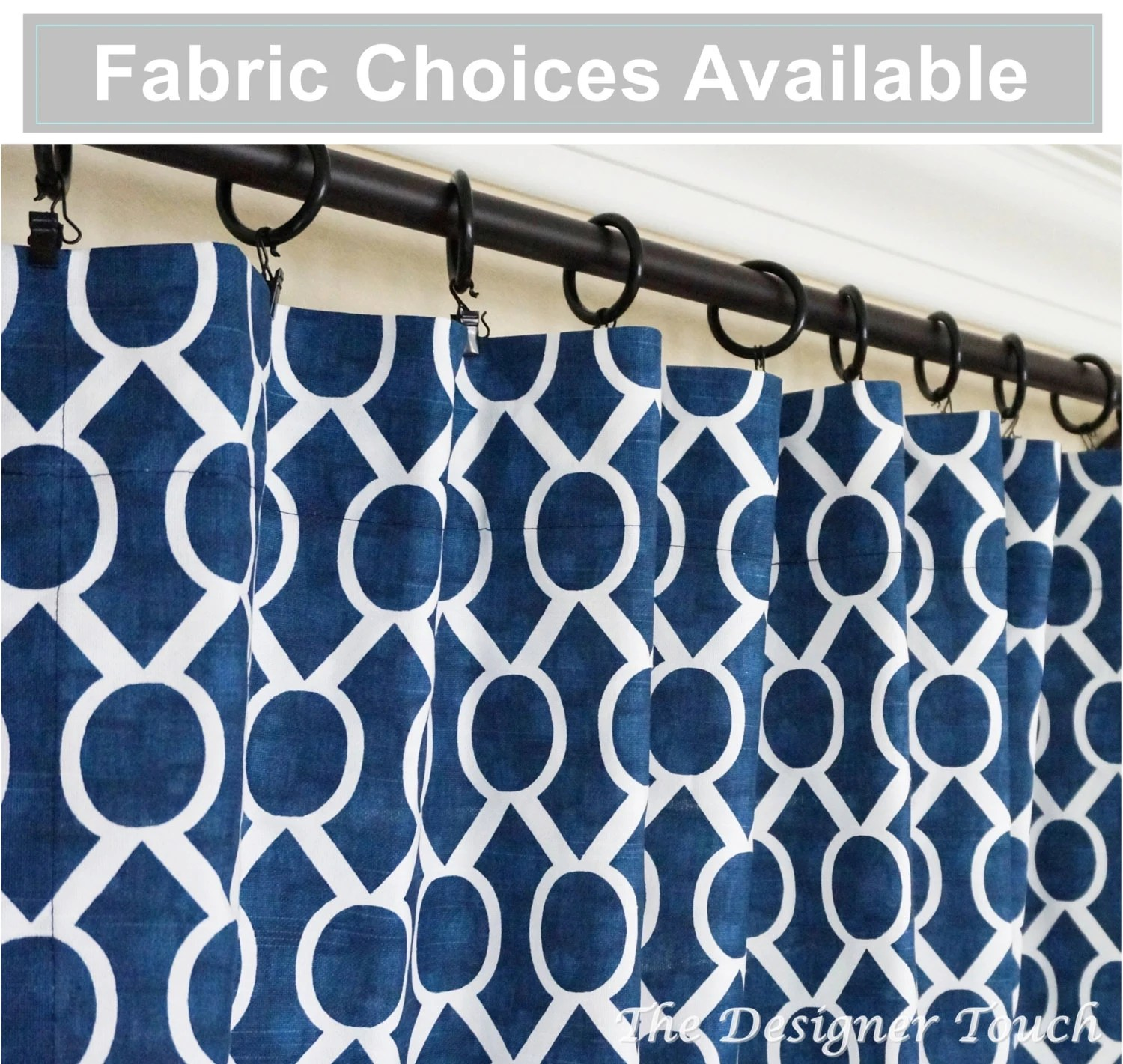Ready Made Curtains 108 Drop Navy Blue Curtain Nautical Curtain Moroccan Curtain Navy Curtain Panel 63