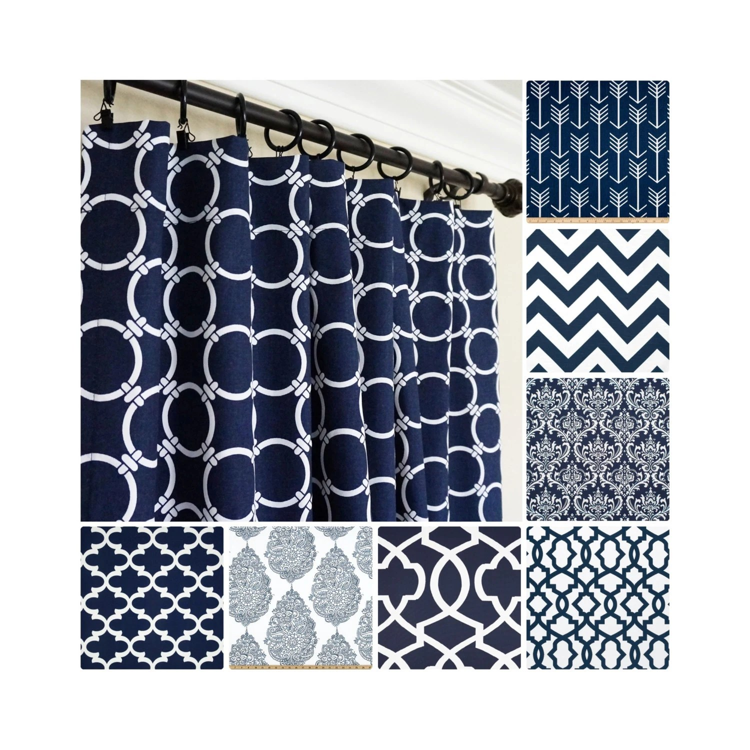 Dark Blue And Grey Curtains Navy Blue Curtains Navy Window Curtains Dark Blue Curtains Kitchen Curtains Moroccan Curtains Blue Arrow Curtains Choose Colors