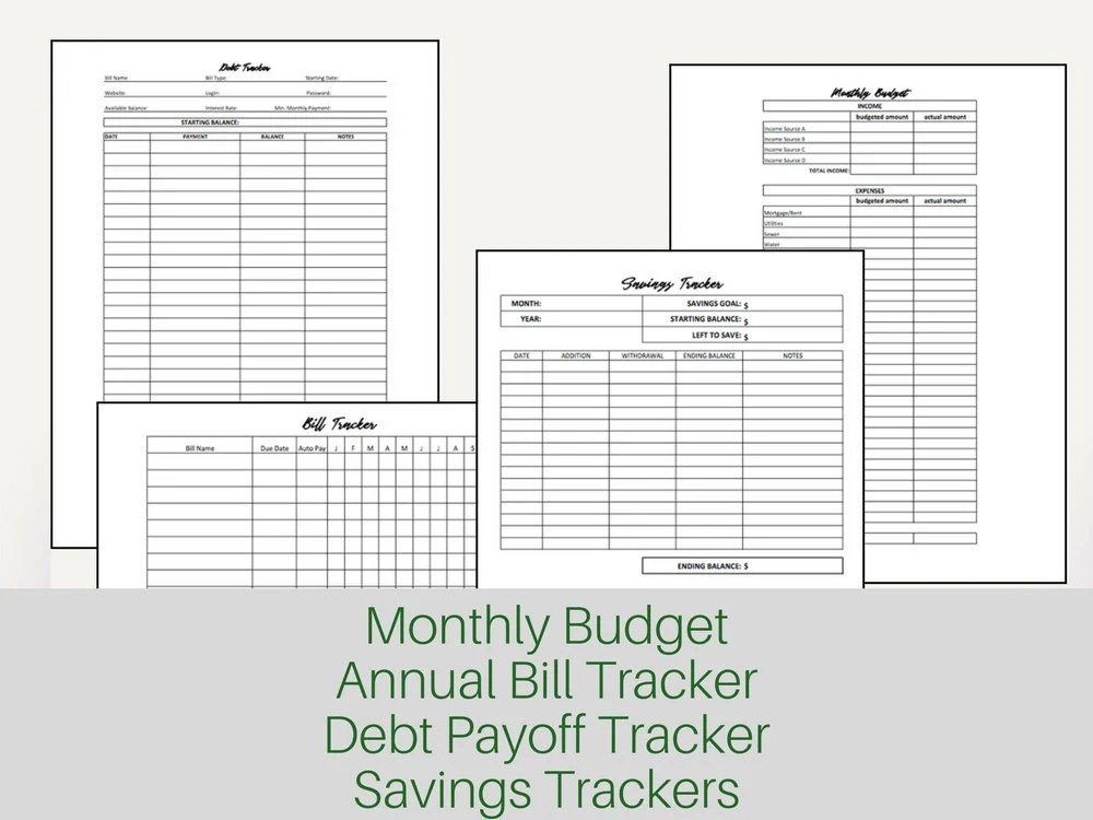 Family Budget Planner Budget Printable Financial Planner Etsy