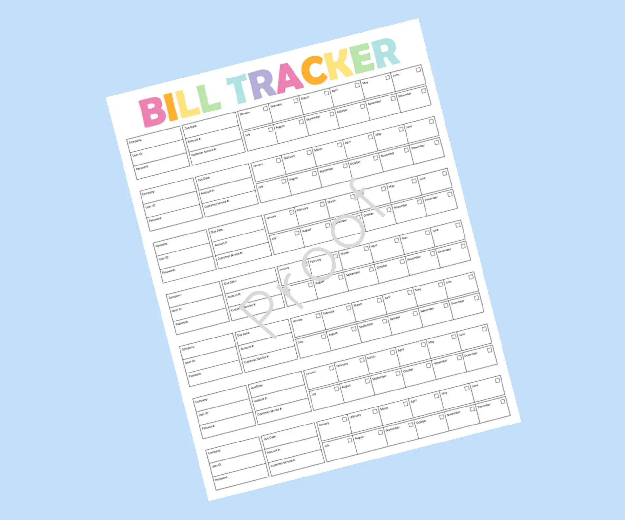 Monthly Bill Organizer Printable Expense Tracker Bill Etsy
