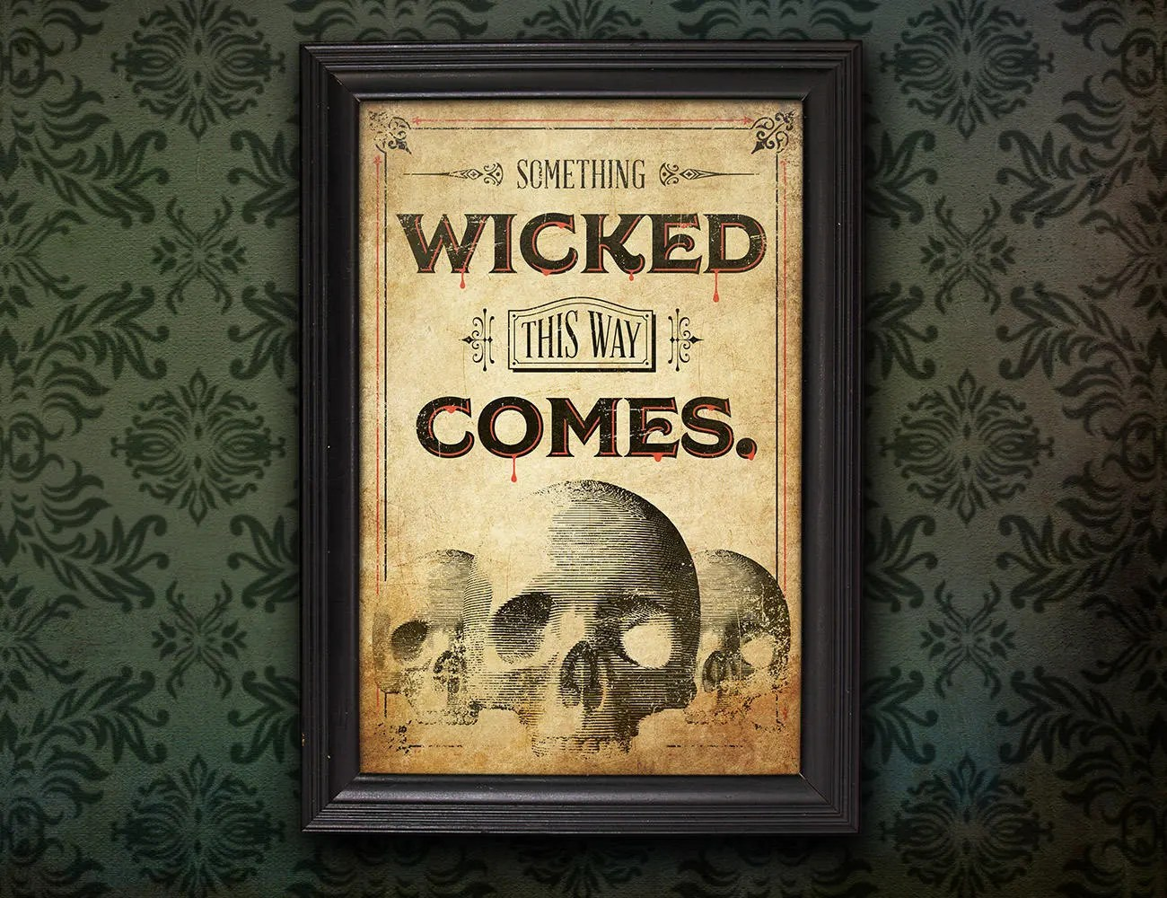 Something Wicked This Way Comes Instant Download Printable Etsy