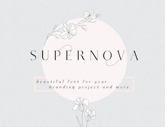 Free fonts Supernova modern serif font branding logo wedding Etsy