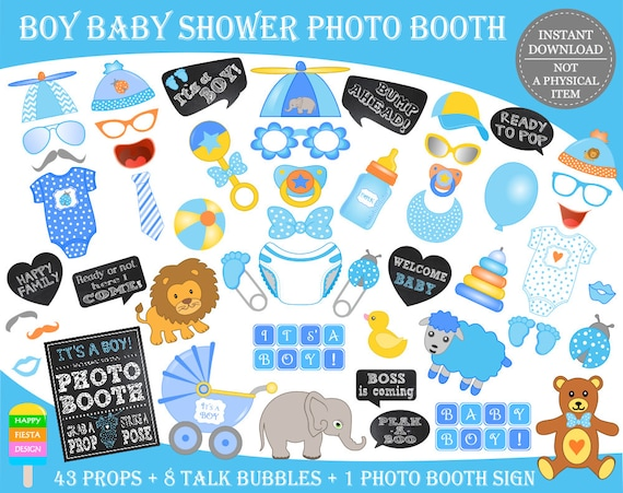PRINTABLE Baby Shower Photo Booth Props\u2013Baby Shower Props\u2013It\u0027s a Boy