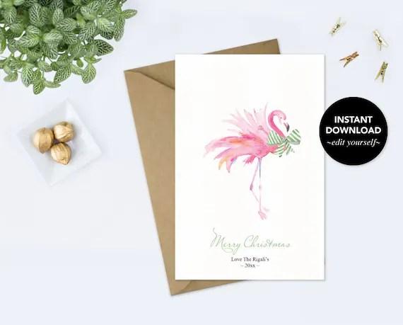 Holiday Card, Editable Text, Thank You Card, Printable, Template