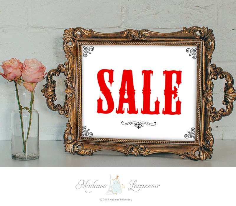 SALE signs printable sign sales signs instant download signs Etsy