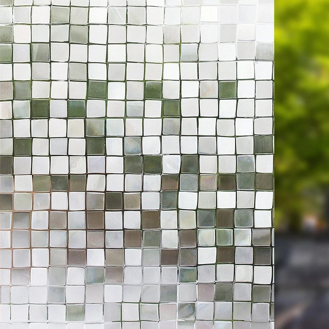Translucent Window Film Self Adhesive Window Film Mosaic Pattern For Home Kitchen Office Bedroom 19 6