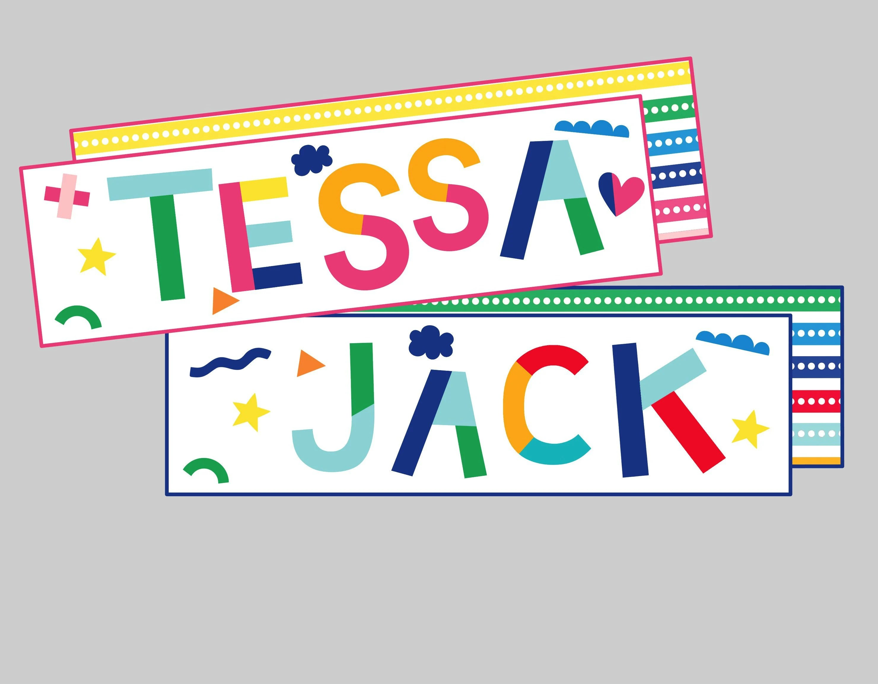 Personalized Printable Bookmarks for Kids Teachers or Etsy