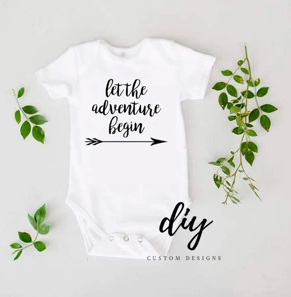 Let the Adventure Begin Baby Onesies® Coming Home Outfit - onesies designs