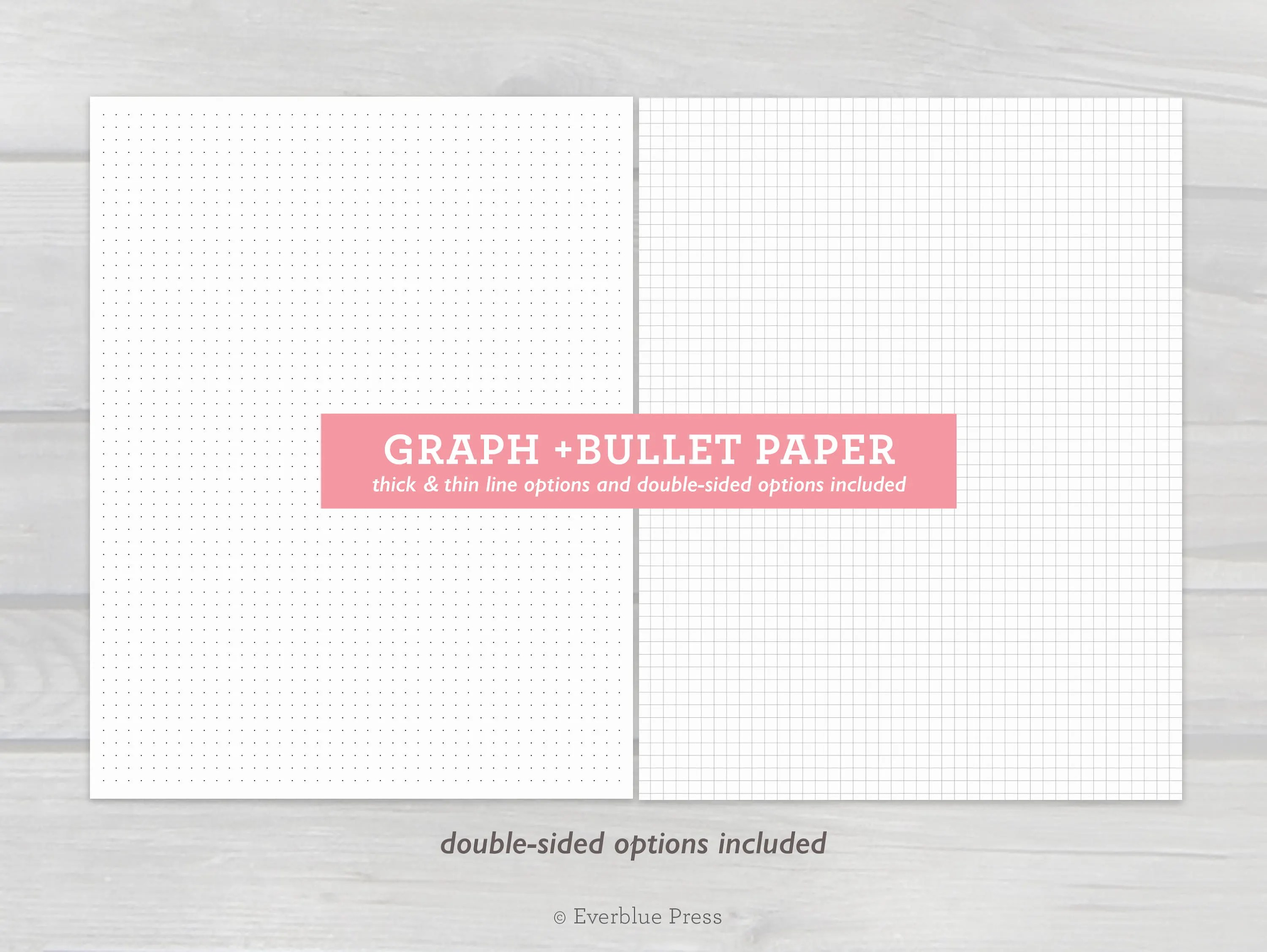 Printable Graph Paper and Bullet Journal Dot Paper Etsy