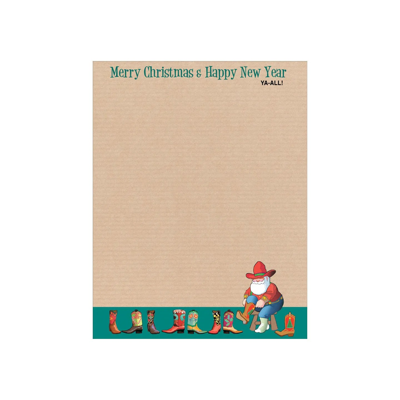 Christmas Stationery Western Holiday Letterhead 85 x 11 Etsy