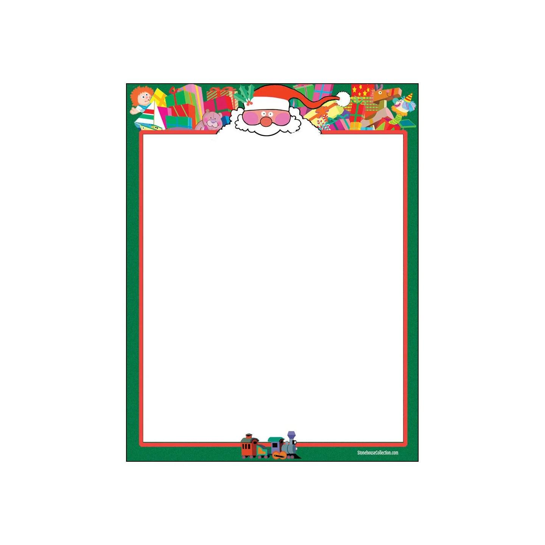Holiday Stationery Santa Christmas Theme Stationery 85 x Etsy