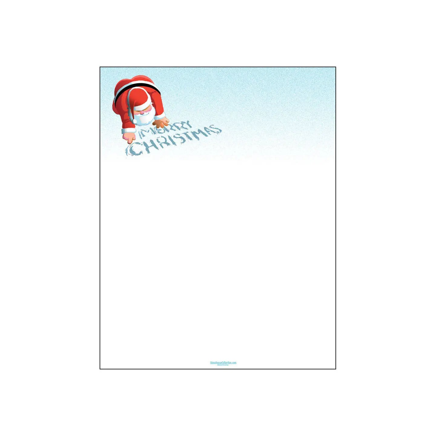 Merry Christmas Holiday Stationery 85 x 11 inches 80 Etsy