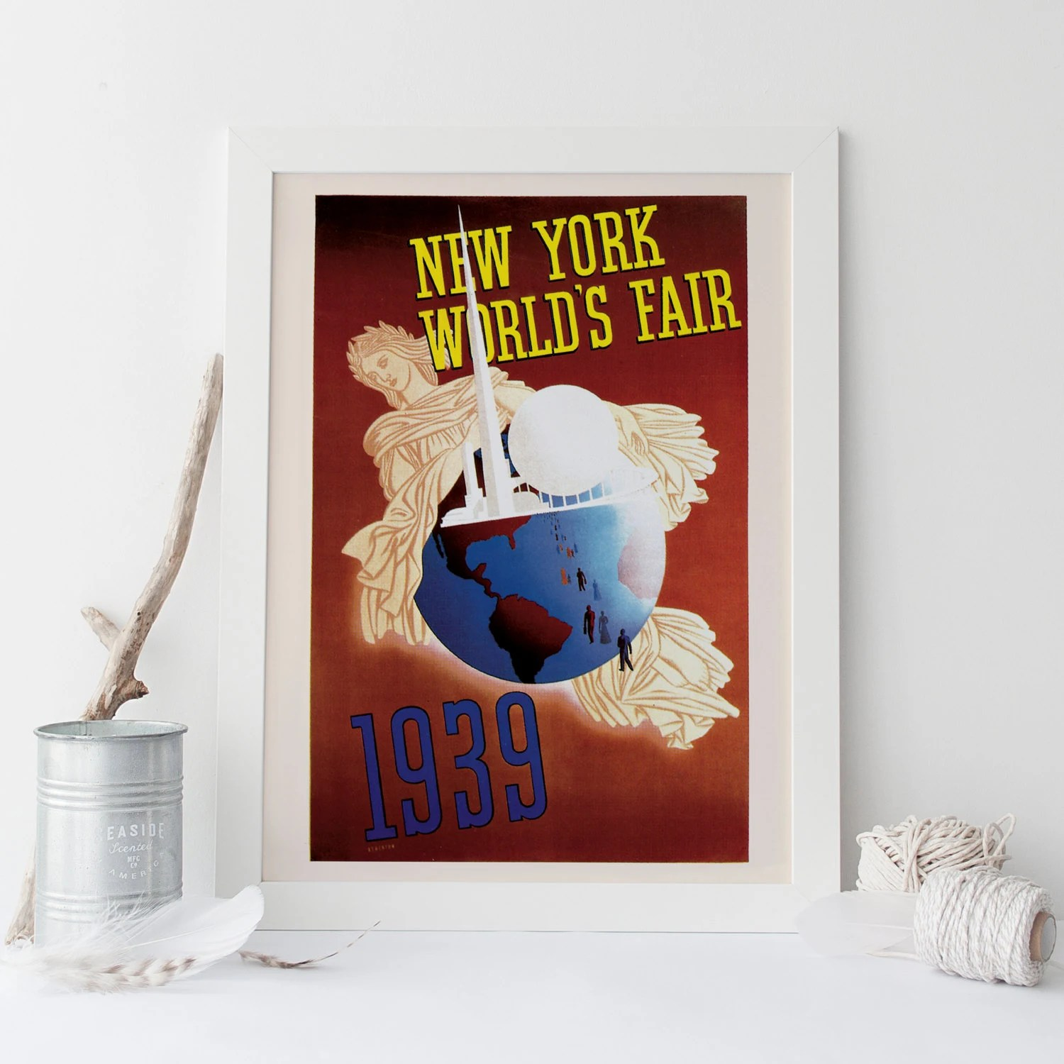 New York Poster Ikea Art Deco Poster Art Deco Print New York City Travel Poster Travel Print Expo 1939 Retro Poster Nyc Poster Ikea Ribba Retro Art Print