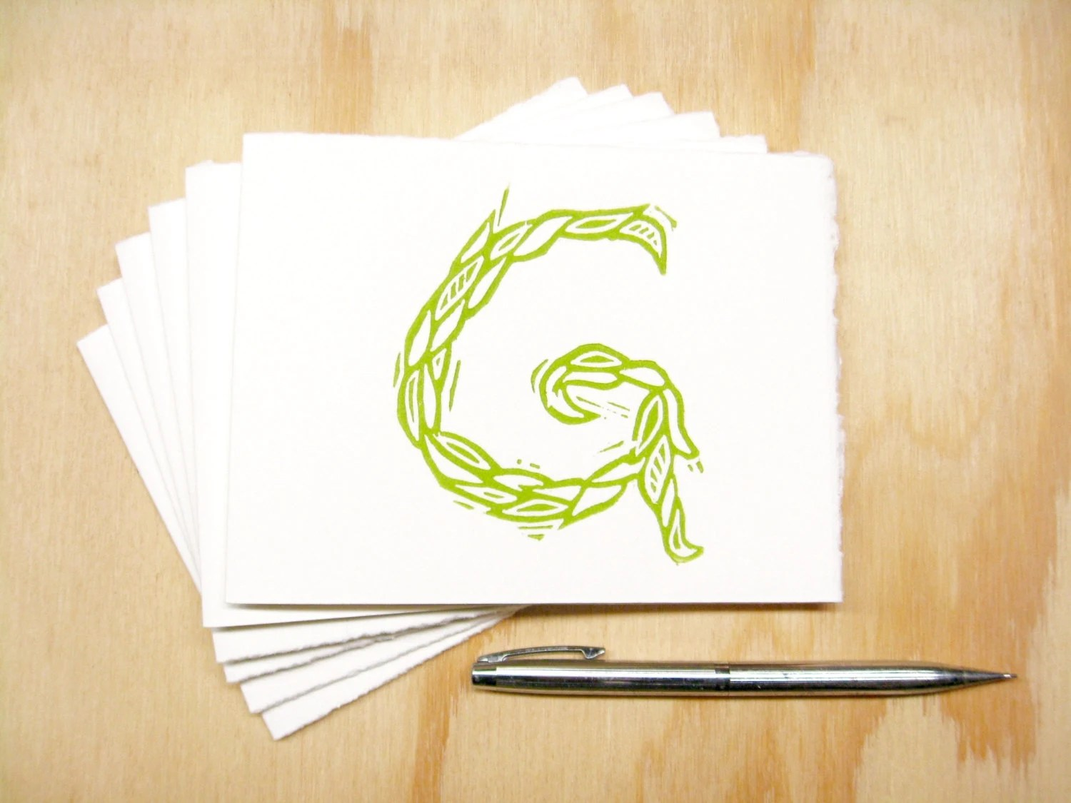 Letter G Stationery Personalized Gift Set of 6 Block Etsy