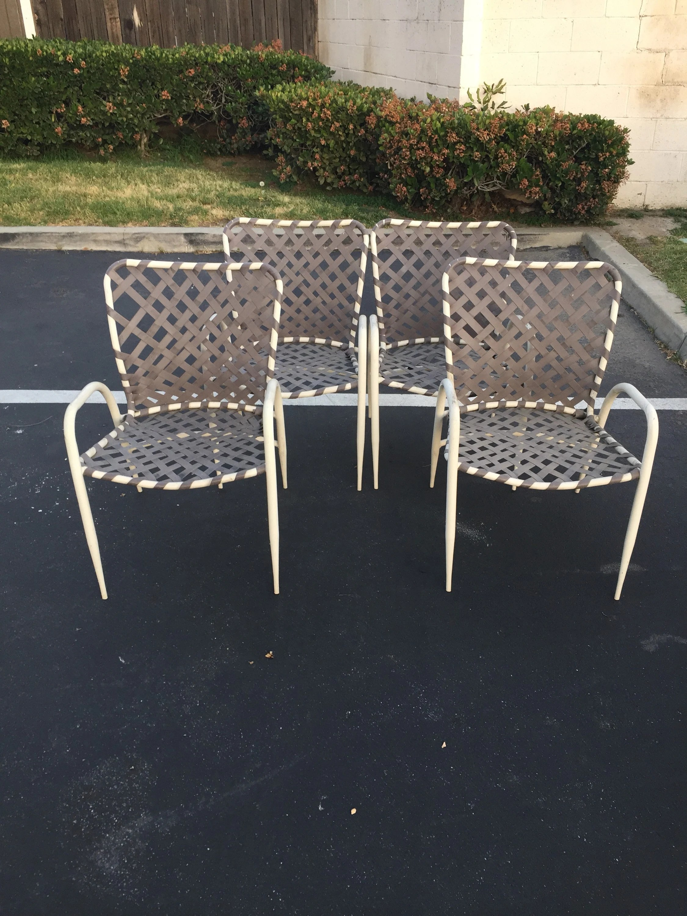 Backyard Chairs Set Of Four 4 Brown Jordan Tamiami Patio Chairs Vintage Garden Chairs Mid Century Modern Backyard Chairs Outdoor Chairs Mcm Lawn Chair