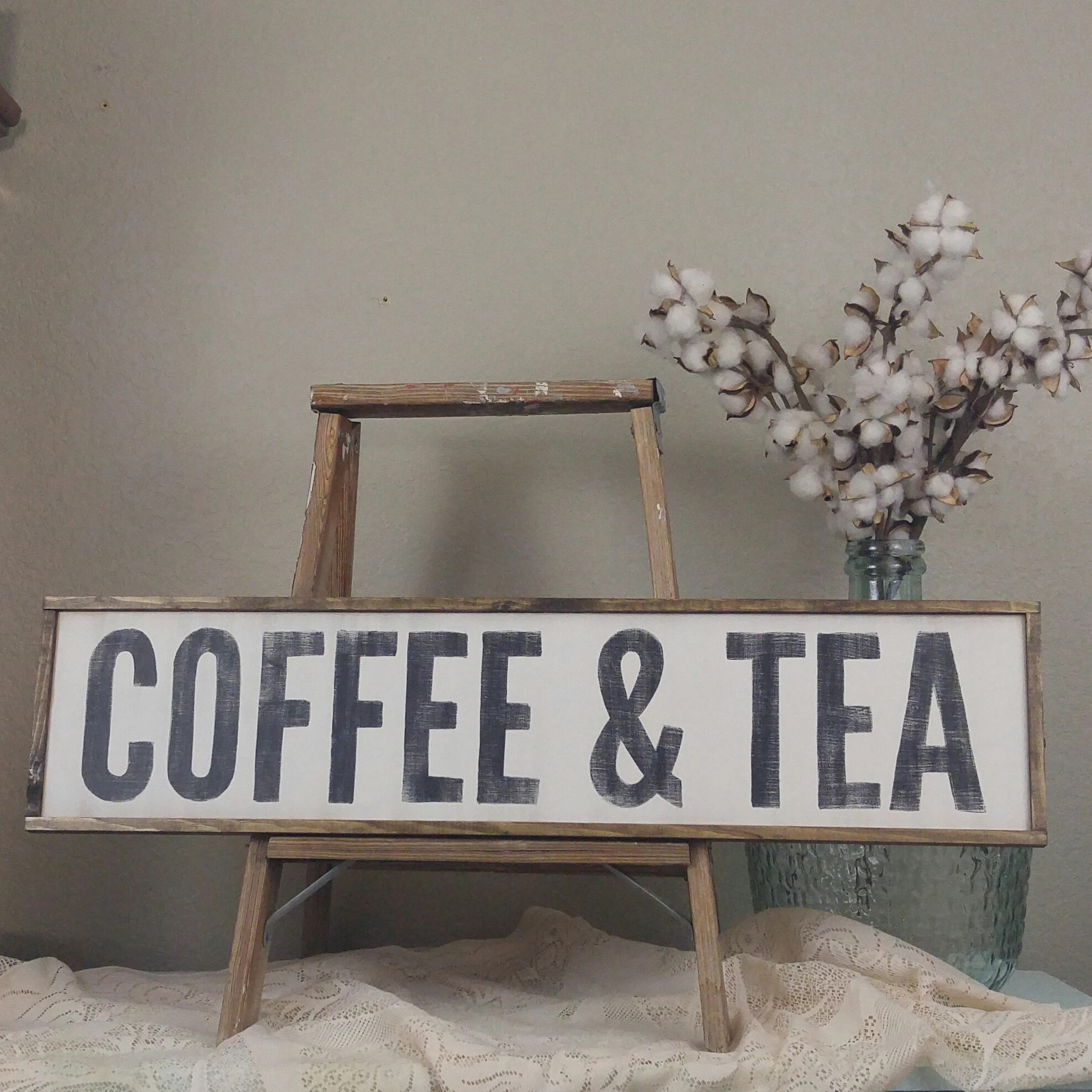 Farmhouse Coffee Shop Coffee Sign Coffee Bar Sign Coffee And Tea Farmhouse Decor Wood Coffee Sign Custom Wood Sign Framed Wood Sign Horizontal Sign
