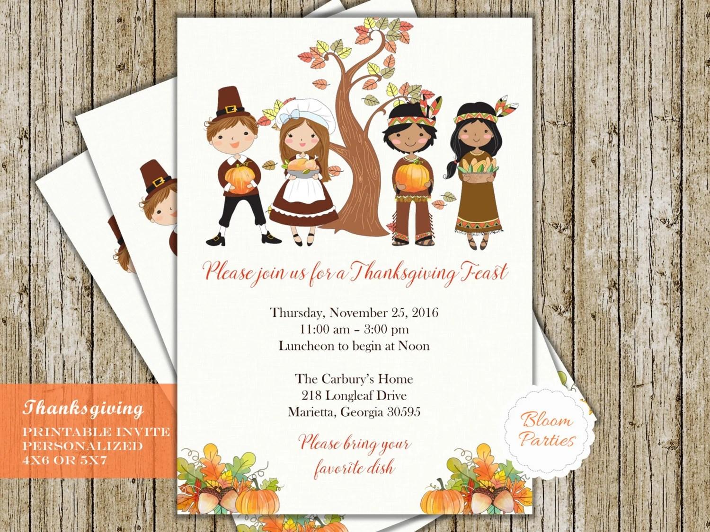 Thanksgiving Invitations Thanksgiving Feast Thanksgiving Etsy