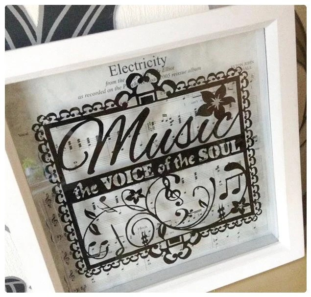 Music - the Voice of the Soul Paper Cut / Papercut Template - music paper template