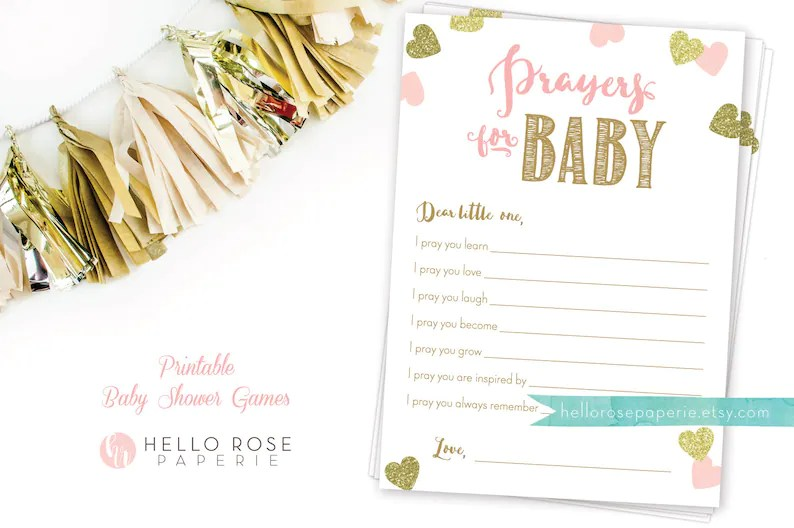 Prayers for Baby Printable Card and 8x10 Sign  Dear Baby Etsy